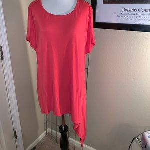 Red knit tunic
